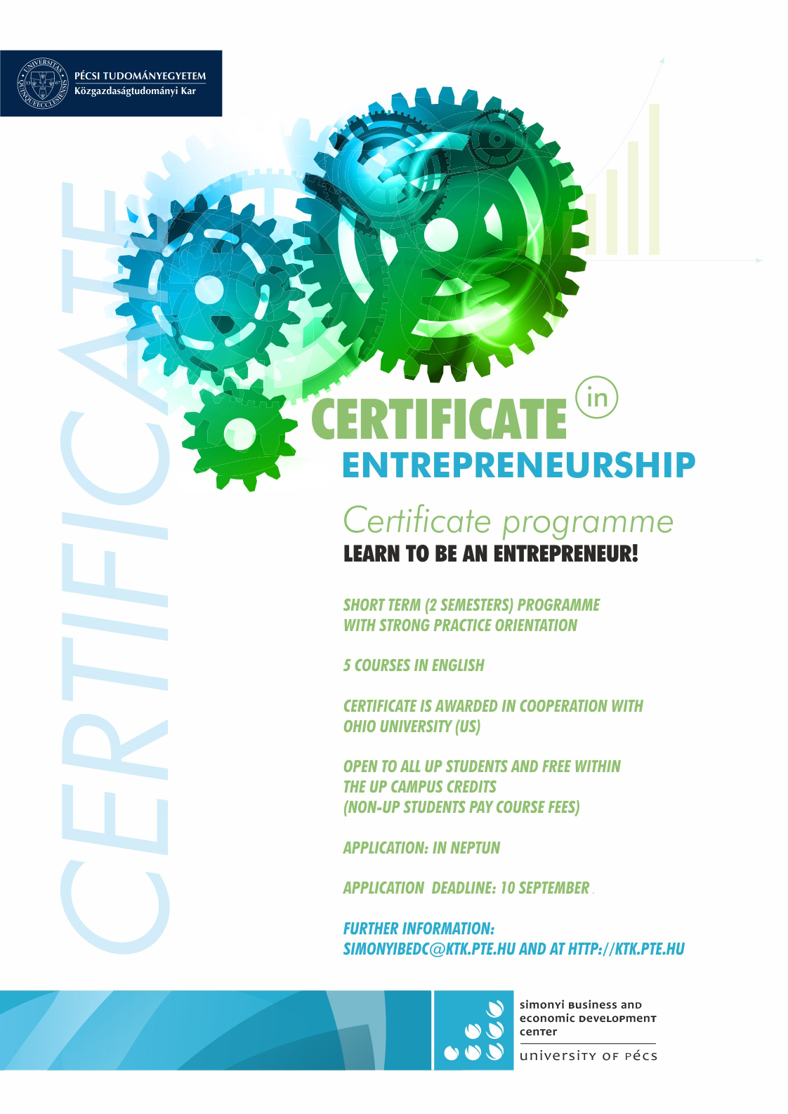 Certificate In Entrepreneurship Simonyi Business And Economic